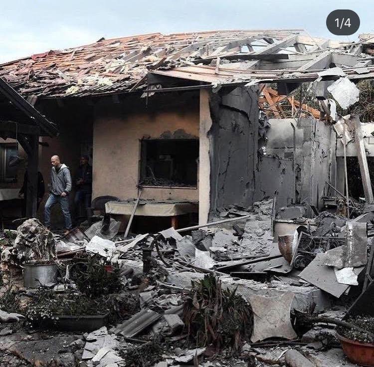 Rocket attack from Gaza into moshav mishmeret March 2019