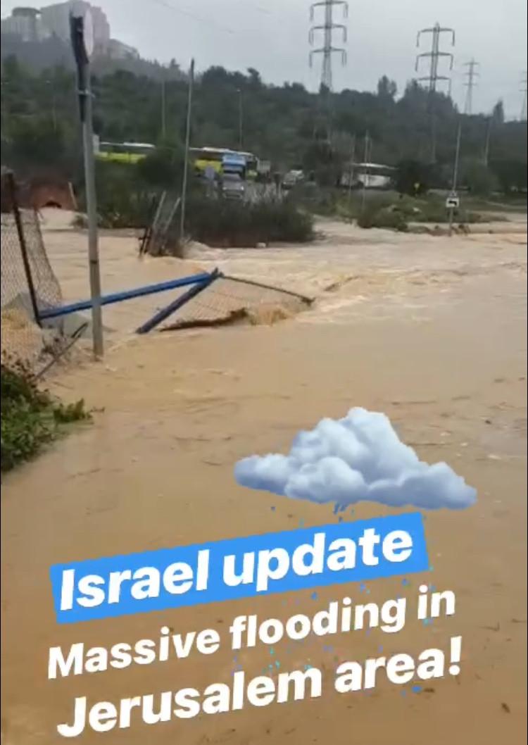 Floods in ISrael 2019
