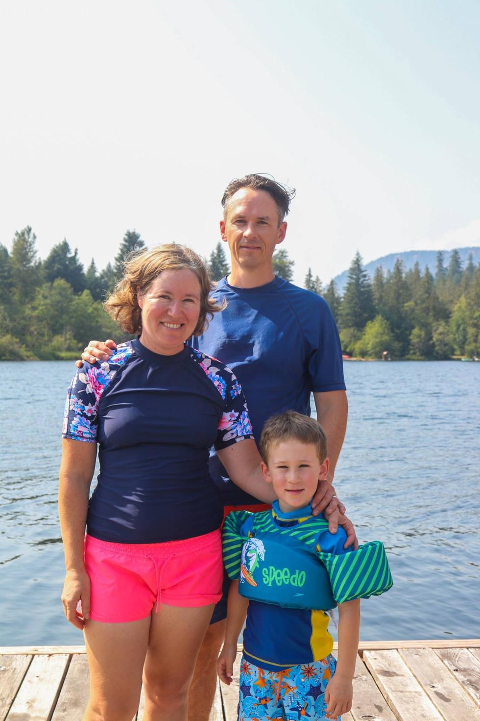family lake day