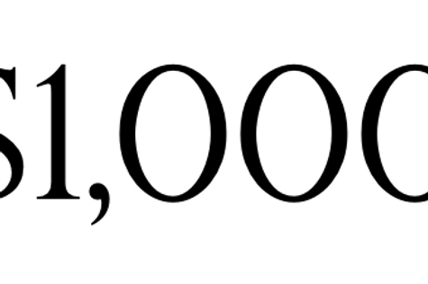 Payment of $1,000