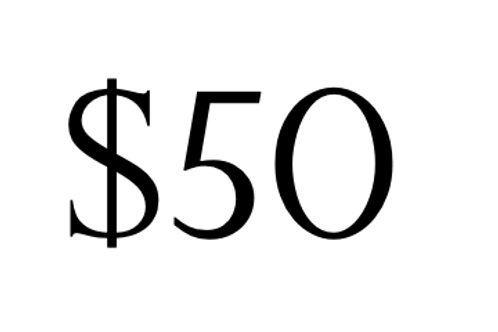 Payment of $50