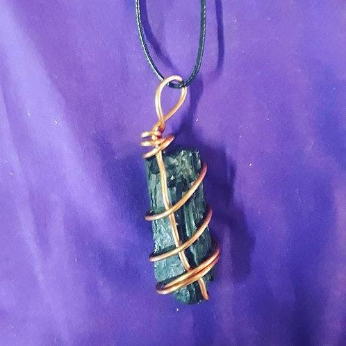 Black tourmaline Copper necklace