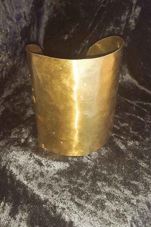 Hand crafted hammered Brass Cuff