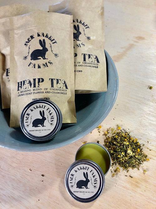 Hemp Balm and Tea Package