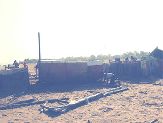 "Besant beach stalls post Cyclone ""Vardah"""