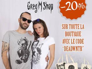 On enterre l'hiver sur la boutique Greg M! -20% sur la boutique