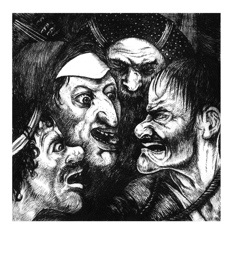 Le Portement de croix, d'après Bosch