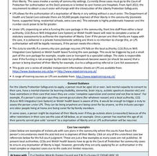 Community deprivation of liberty - planning for LPS