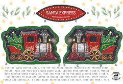 Santa Express Cut & Sew Tea Towel