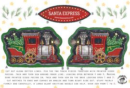 Santa Express Cut & Sew Tea Towel
