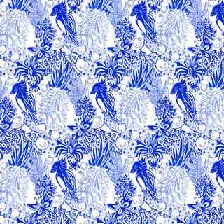 Messopitamian Blue Pattern
