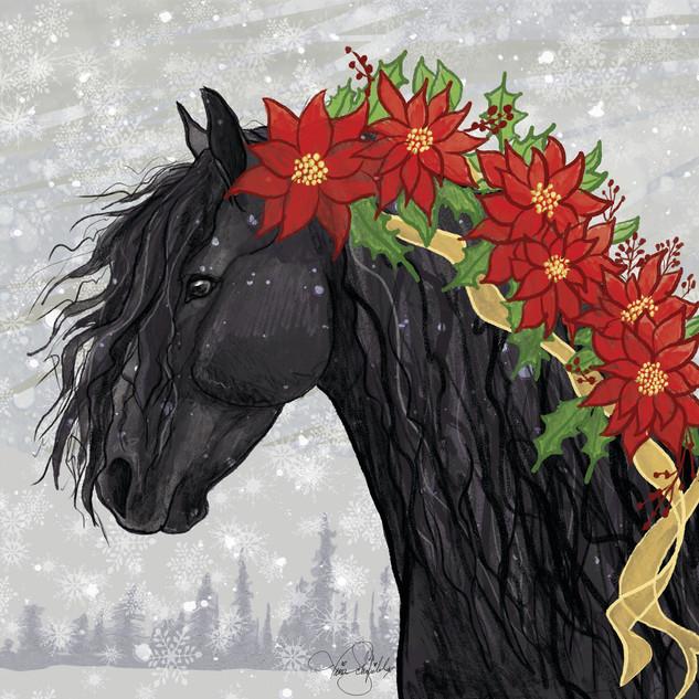 Pointsettia Friesian Horse