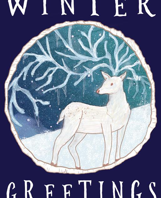 Winter Greetings Icicle Reindeer