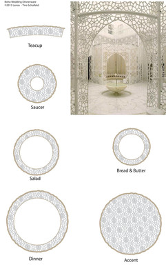 Taj Mahal Dinnerware line