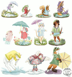 Animal Umbrella Figurine Design Concepts