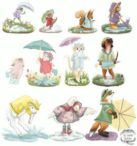 Animal Umbrella Figurine Design Concepts
