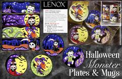 Lenox China Halloween Monsters Dinnerware