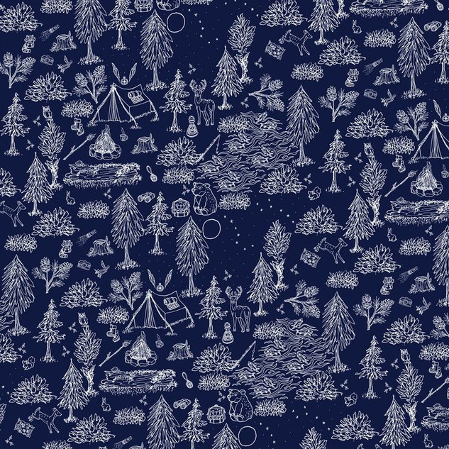 Under The Moonlight Camping Pattern