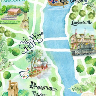 Tourist Map of The Delaware River