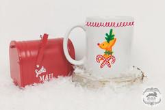 Candy Cane Reindeer Gifting Mug