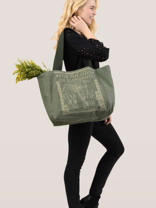For the Love of Elephants Tote