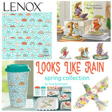 Looks Like Rain Lenox China Spring Design Collection