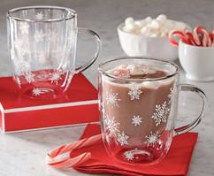 Lenox China Etched Snowflake Hot Drink Mug