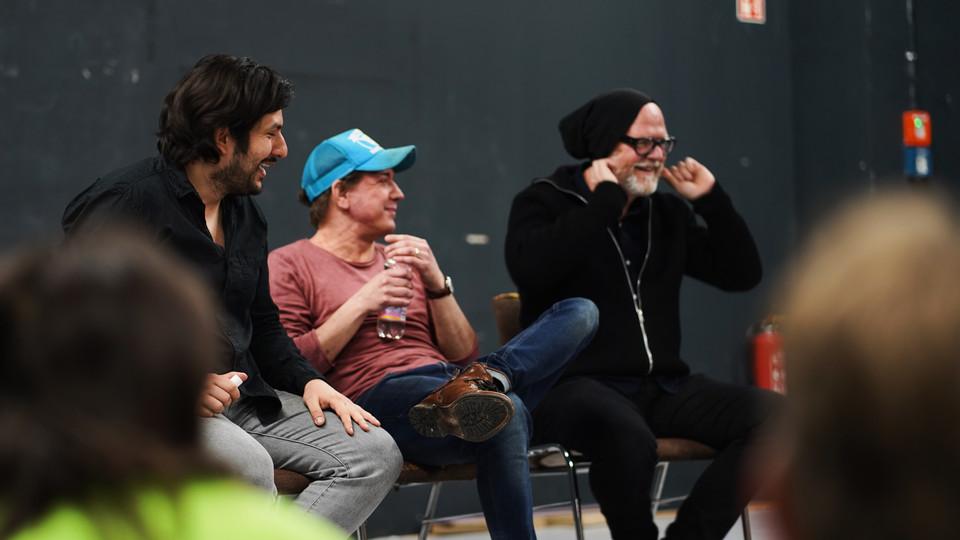 Producer Manuel Meimberg, Director Andreas Morell and Acting Coach Francisco Medina