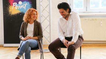 Casting Director Maya Kvetny and Francisco Medina