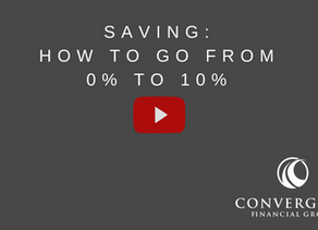 Saving: How to Go from 0% to 10%