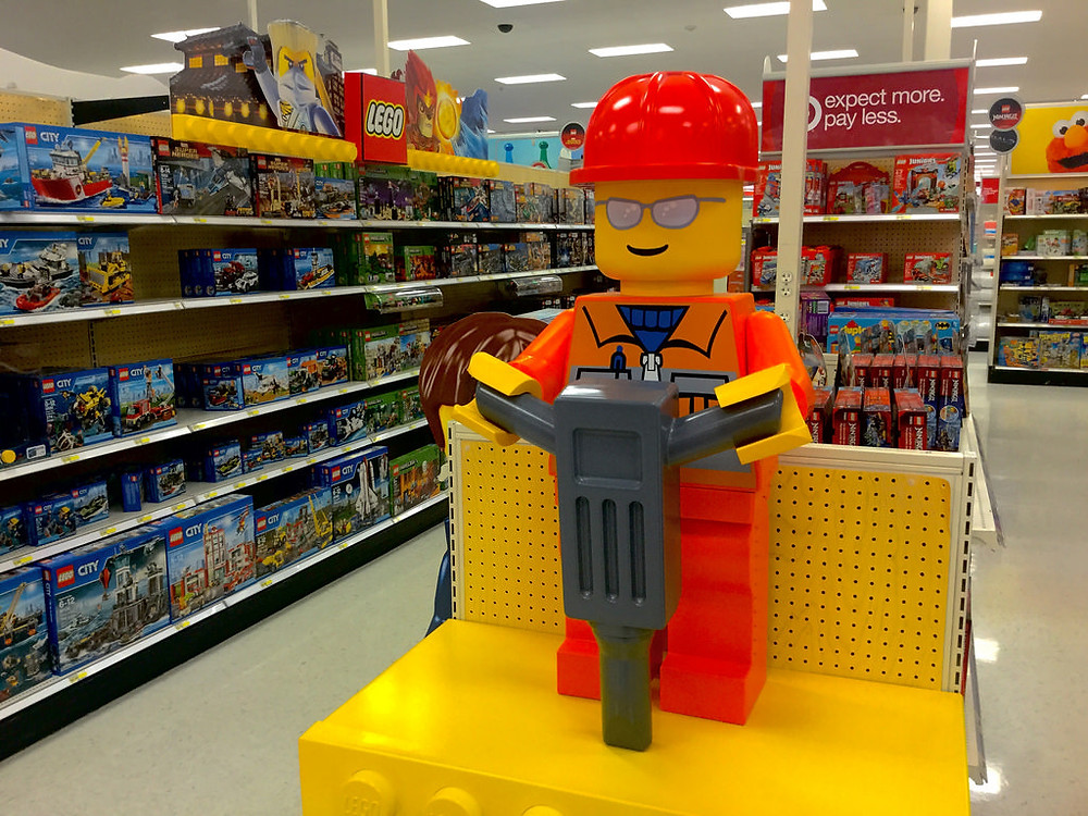teach your child to spend responsibly Legos at Target
