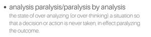 analysis paralysis paralysis by analysis Tony Robbins
