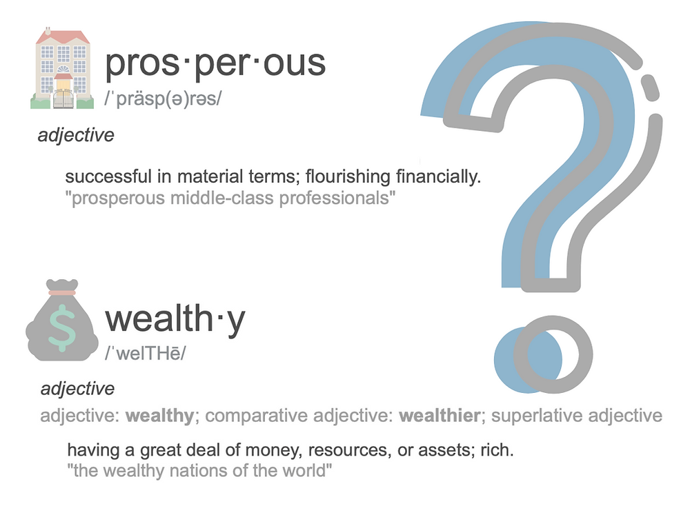 difference between prosperous and wealthy
