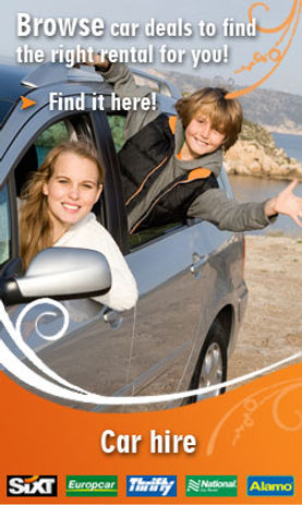 Car deals with Kevins Travel Agency