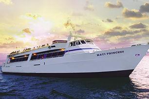 Maui Princess takes you sailing along the coast of West Maui to see the islands of Molokai and Lanai light up for the night.