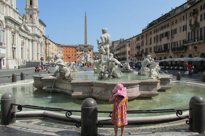Child-friendly walking tour around Rome's Fountains and Sqaures.