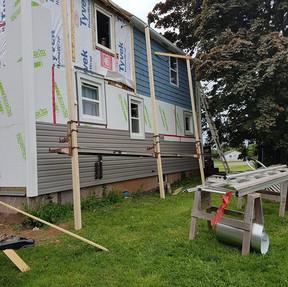 New insulation & siding