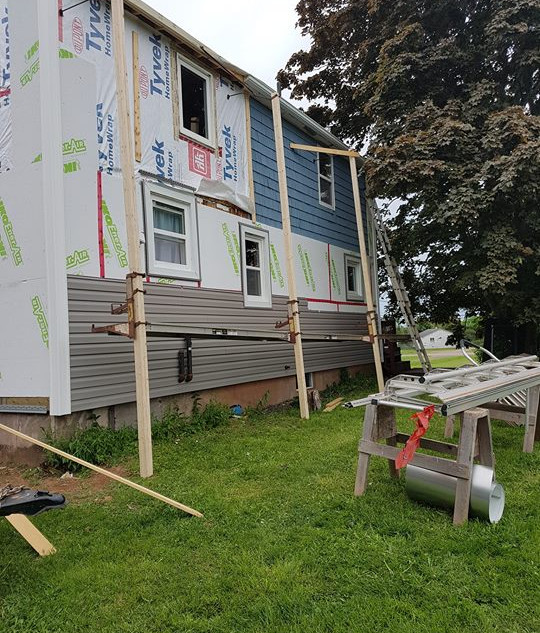 New insulation & siding