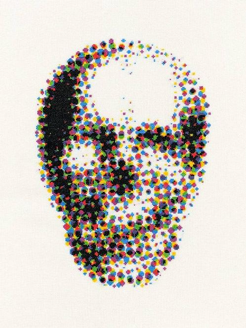 CYMK Skull, Giclee Print