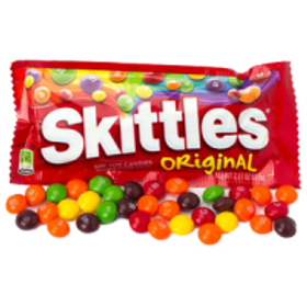 Skittles Candle