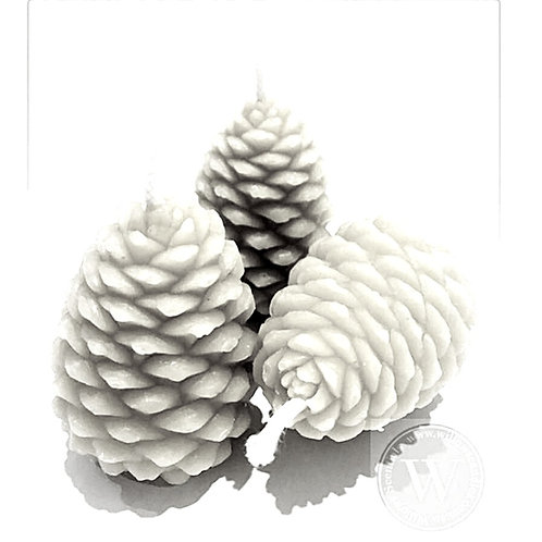 Pine Cone Beeswax Candle x 1