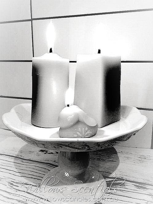 Plain Beeswax Pillar Candle (Rectangle)