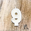 Thumbnail: White Beeswax Birthday Number Candles - No. 9