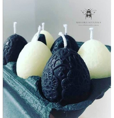 Lace egg candles