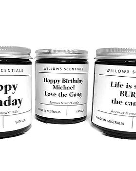 Personalised Candles . Custom Candles