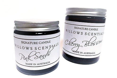 Black Raspberry & Vanilla Scented Jar Candle