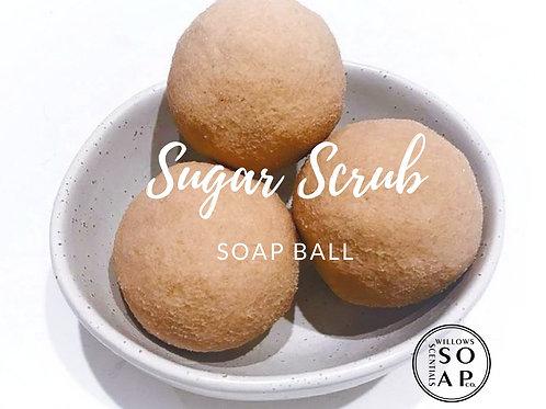 Pink Champagne & Exotic Fruits Sugar Scrub Soap Ball