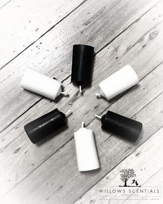 Black & White Beeswax Candles