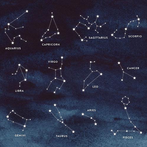BIRTHDATE Zodiac Constellation Scented Candle