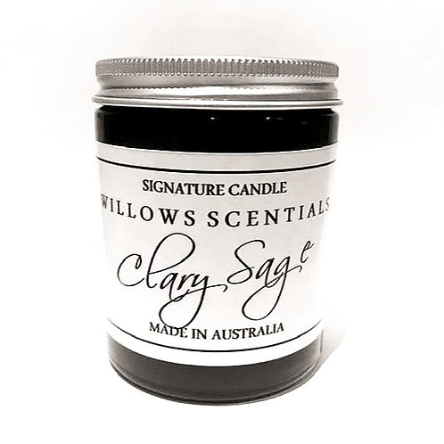 Clary Sage Essential Oil Jar Candle